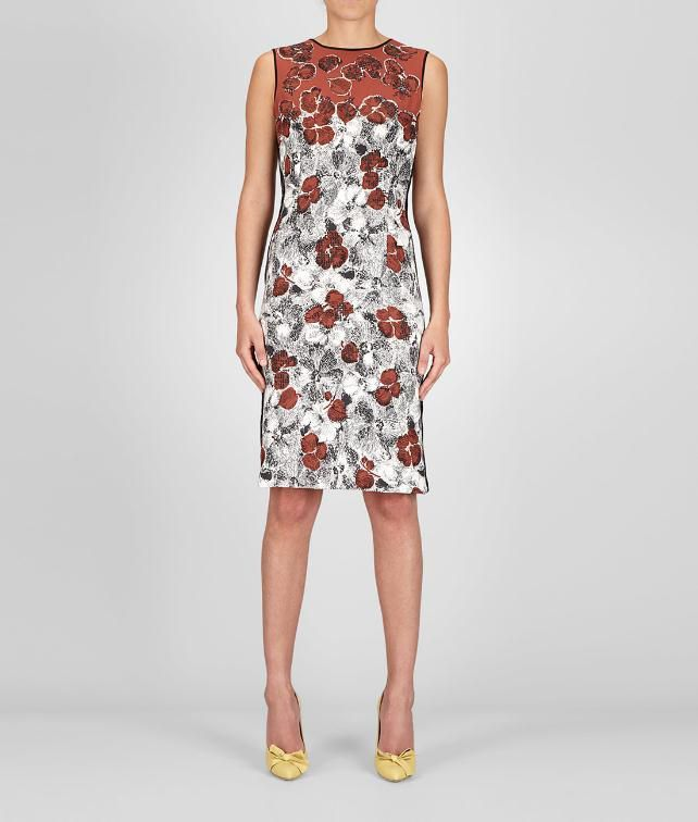 Bottega Veneta Platre nero appia studded silk primerose print dress