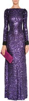 Jenny Packham Sparkling Violet All-Over Sequin Dress