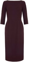 Goat Marcelle Damson Burgundy Wool-Crepe Pencil Dress
