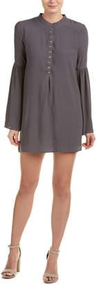 Olivaceous Bell-Sleeve Shirtdress