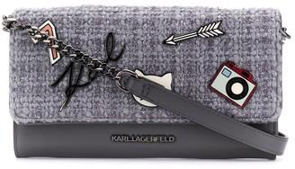 Karl Lagerfeld Paris Klassik pins crossbody bag