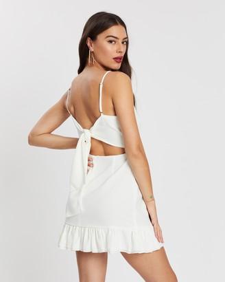 Missguided Tie Back Ruffle Hem Cami Dress