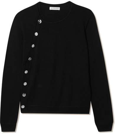 Altuzarra Minamoto Embellished Merino Wool Sweater - Black
