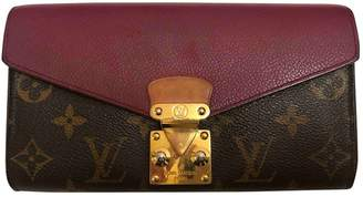 Louis Vuitton Pallas Brown Cloth Wallets