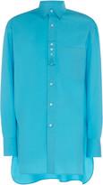 Lanvin Oversized Woven Cotton Shirt