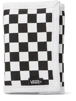 Vans Checkerboard Cotton-Canvas Trifold Wallet