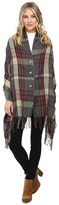 San Diego Hat Company BSP1002 Woven Plaid Poncho