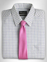 Gold Series Wrinkle-Free Cool & Dry Tattersall Dress Shirt Casual Male XL