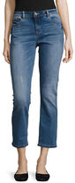 Kensie Jeans Cropped Straight Leg Jeans
