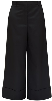 The Row Carter Wool Wide-leg Trousers - Black
