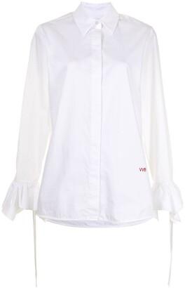 Victoria Victoria Beckham Flounce-Cuff Cotton Shirt