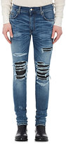 AMIRI Men's MX1 Leather-Inset Slim Jeans
