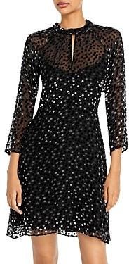 Rebecca Taylor Keyhole Polka Dot Dress