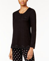 Alfani Lace-Trimmed Pajama Tunic, Only at Macy's