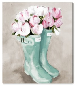 "Oliver Gal Tulips in Spring Boots Canvas Art - 24"" x 20"" x 1.5"""