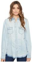 Blank NYC Denim Shirt in Rehab Run Women's Clothing