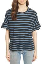 The Great The Ruffle Stripe Tee
