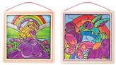 Melissa & Doug Stained Glass Made Easy Bundle - Rainbow Garden & Princess