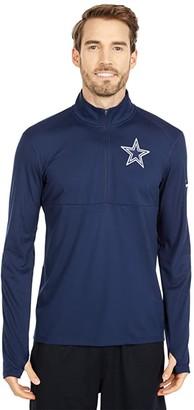 Dallas Cowboys Dallas Cowboys Nike Logo Element 1/2 Zip Pullover (Navy) Men's Clothing