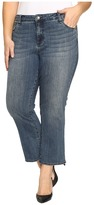 KUT from the Kloth Plus Size Reese Crop Flare Jeans in Perfection