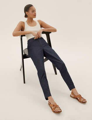Marks and Spencer Mia Slim Denim Ankle Grazer Trousers