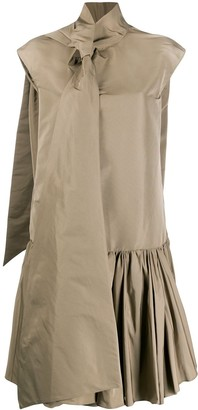 Rochas Neck Tie Shirt Dress