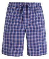 Derek Rose Barker Checked Cotton Pyjama Shorts