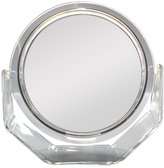 Zadro 10-Inch 7x Mag Surround Lighted Swivel Base Vanity Mirror, Chrome Finish