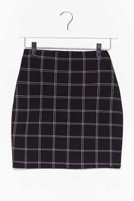 Nasty Gal Womens check mini skirt - Black - 8