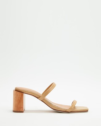 James Smith JAMES | SMITH - Women's Brown Heeled Sandals - Sirenuse Strap Sandal Heels - Size 37 at The Iconic