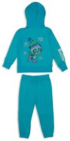 Butter Shoes Girls' Skating Panda Embellished Fleece Hoodie & Sweatpant Set - Sizes 2-4