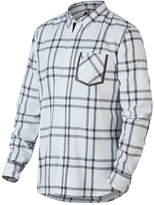 Oakley White Plaid Inferno Button-Up