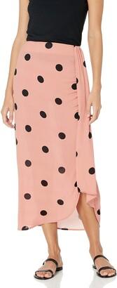 BB Dakota Women's Naturally Dotty Printed Skirt