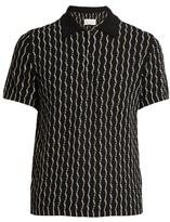 Maison Margiela Short-sleeved cotton-weave polo shirt