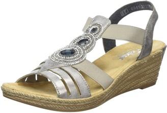 Rieker 62459-40 Women's Open Toe Wedge Sandals Grey (Grey) 3.5 UK (36 EU)