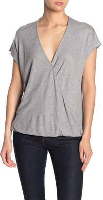 Lush Dolman Cap Sleeve Wrap Top