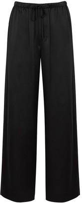 Vince Black wide-leg silk-satin trousers
