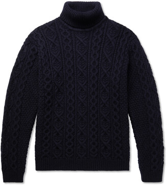 NN07 Bert Cable-Knit Wool Rollneck Sweater