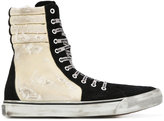 Palm Angels hi-top distressed sneakers