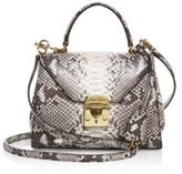 Mark Cross Hadley Baby Python Satchel
