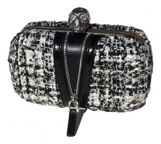 Alexander McQueen Skull Black Tweed Clutch bags