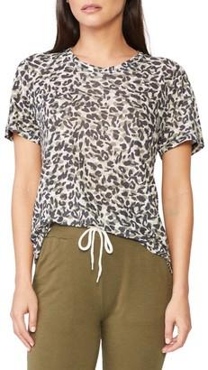 Monrow Animal Print Girlfriend T-Shirt