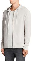 AllSaints Trias Chunky Knit Cotton Hoodie, Grey