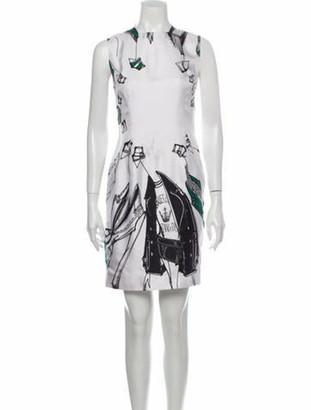 Zang Toi Silk Mini Dress White