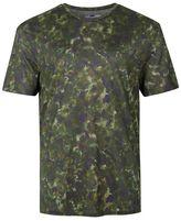 Topman Khaki Watercolour Print Slim Fit T-Shirt