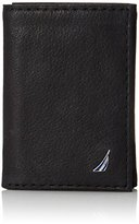 Nautica Men's Trifold Wallet with J Class Embedded Logo