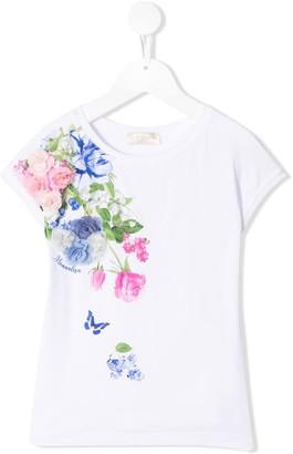 MonnaLisa flower appliqué T-shirt