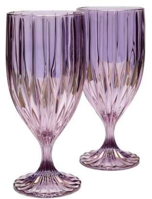 Luisa Beccaria Set Of Two Prestige Water Glasses - Purple