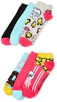 Betsey Johnson 6-Pack Low Cut Pretzel & Popcorn Socks