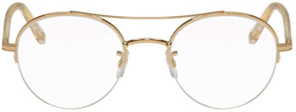 Garrett Leight Rose Gold Manchester Glasses
